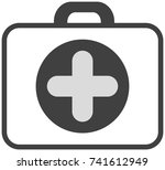 icon suitcase doctor | Shutterstock .eps vector #741612949