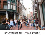 amsterdam  holland   august 17  ... | Shutterstock . vector #741619054