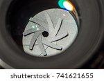 camera lens. | Shutterstock . vector #741621655