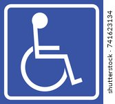 disabled handicap icon    Shutterstock .eps vector #741623134