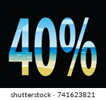 forty percent discount  summer... | Shutterstock .eps vector #741623821