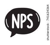 nps  abbreviation net promoter... | Shutterstock .eps vector #741624364