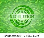 regulation green emblem. mosaic ... | Shutterstock .eps vector #741631675