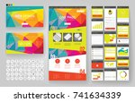 website template  one page... | Shutterstock .eps vector #741634339