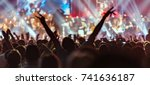 spectators at a rock music... | Shutterstock . vector #741636187