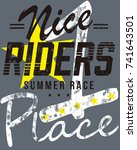 sports design for t shirts with ... | Shutterstock .eps vector #741643501
