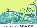 water waves. vector... | Shutterstock .eps vector #741643531