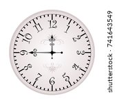 clock face. vector illustration ... | Shutterstock .eps vector #741643549