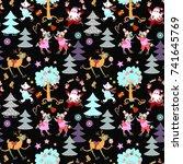 seamless christmas print for