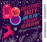 christmas invitation for... | Shutterstock .eps vector #741646297