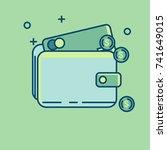 vector finance icon   Shutterstock .eps vector #741649015