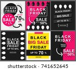 black friday banner template... | Shutterstock .eps vector #741652645