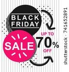 black friday banner template... | Shutterstock .eps vector #741652891