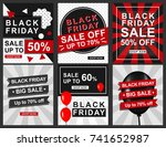 black friday banner template... | Shutterstock .eps vector #741652987