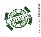 green capitalism distress... | Shutterstock .eps vector #741660667