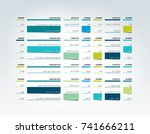 table  schedule  tab  planner ... | Shutterstock .eps vector #741666211