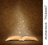 open old book. has star graphic ... | Shutterstock . vector #74166667