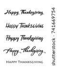 thanksgiving typography hand... | Shutterstock .eps vector #741669754