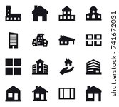 16 vector icon set   mansion ... | Shutterstock .eps vector #741672031