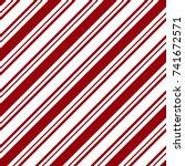 seamless red   white diagonal... | Shutterstock . vector #741672571
