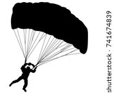 skydiver  silhouettes... | Shutterstock .eps vector #741674839