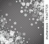 isolated snowflakes on... | Shutterstock .eps vector #741677725