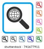 global search icon. flat gray...