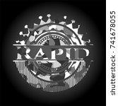 rapid written on a grey... | Shutterstock .eps vector #741678055