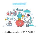 investment strategy. financial... | Shutterstock .eps vector #741679027