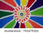 making rangoli | Shutterstock . vector #741679201