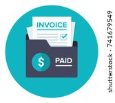 invoice flat icon. payment and... | Shutterstock .eps vector #741679549