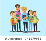 cartoon vector illustration of... | Shutterstock .eps vector #741679951