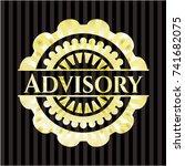 advisory gold badge | Shutterstock .eps vector #741682075