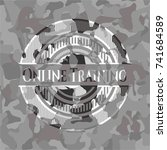 online training on grey camo... | Shutterstock .eps vector #741684589