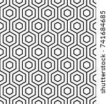 vector seamless pattern. modern ... | Shutterstock .eps vector #741684685