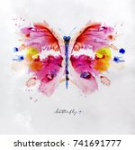 monotype vivid colorful... | Shutterstock .eps vector #741691777
