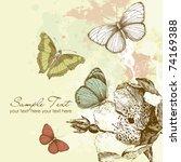 butterfly background | Shutterstock .eps vector #74169388
