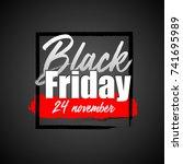 black friday sale poster. black ... | Shutterstock .eps vector #741695989