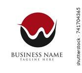 abstract creative w logo design ... | Shutterstock .eps vector #741704365