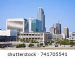 Morning in Omaha - skyline of the city. Omaha, Nebraska, USA.