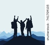 vector illustration of a... | Shutterstock .eps vector #741709105