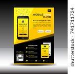 mobile apps flyer template.... | Shutterstock .eps vector #741711724