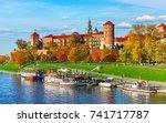 wawel castle famous landmark in ... | Shutterstock . vector #741717787