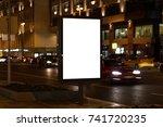 outdoor kiosk city advertising | Shutterstock . vector #741720235