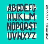vector alphabet. custom letters.... | Shutterstock .eps vector #741720505