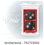 hello winter background with... | Shutterstock .eps vector #741722041