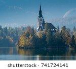 church of the assumption  lake... | Shutterstock . vector #741724141