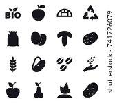 16 vector icon set   bio ... | Shutterstock .eps vector #741726079