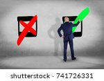 view of a businessman in front... | Shutterstock . vector #741726331
