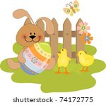 cute easter illustration with... | Shutterstock .eps vector #74172775